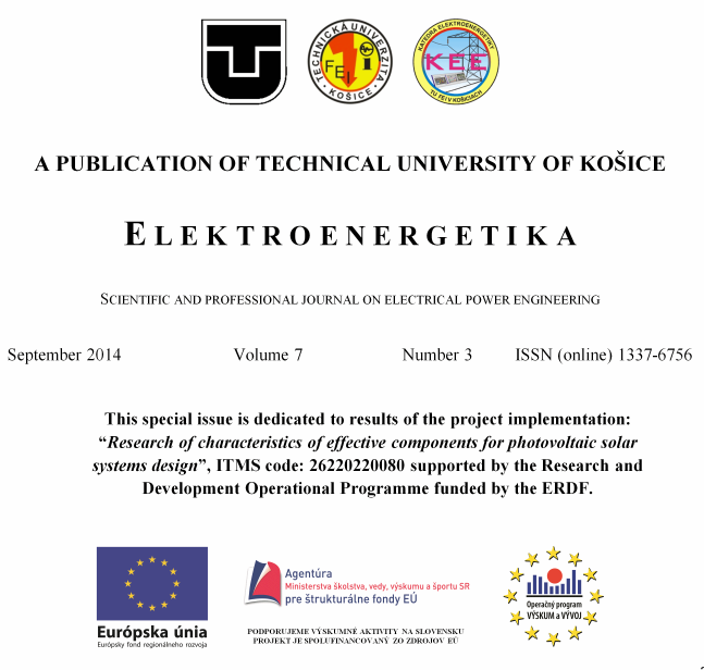 Elektroenergetika Journal , Special issue Vol. 7. No. 2